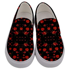 Pumkins And Roses From The Fantasy Garden Men s Canvas Slip Ons