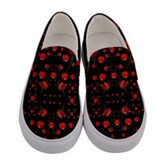 Pumkins And Roses From The Fantasy Garden Women s Canvas Slip Ons
