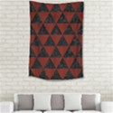 TRIANGLE3 BLACK MARBLE & REDDISH-BROWN WOOD Small Tapestry View2