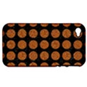 CIRCLES1 BLACK MARBLE & RUSTED METAL (R) Apple iPhone 4/4S Hardshell Case (PC+Silicone) View1