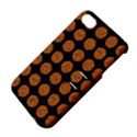 CIRCLES1 BLACK MARBLE & RUSTED METAL (R) Apple iPhone 4/4S Hardshell Case with Stand View4