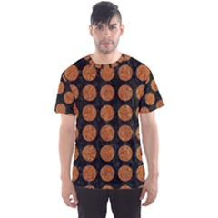 Circles1 Black Marble & Rusted Metal (r) Men s Sports Mesh Tee