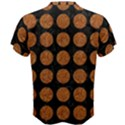 CIRCLES1 BLACK MARBLE & RUSTED METAL (R) Men s Cotton Tee View2