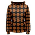 CIRCLES1 BLACK MARBLE & RUSTED METAL (R) Women s Pullover Hoodie View1