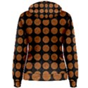 CIRCLES1 BLACK MARBLE & RUSTED METAL (R) Women s Pullover Hoodie View2