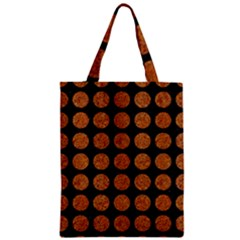 Circles1 Black Marble & Rusted Metal (r) Zipper Classic Tote Bag