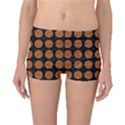 CIRCLES1 BLACK MARBLE & RUSTED METAL (R) Boyleg Bikini Bottoms View1