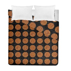 Circles1 Black Marble & Rusted Metal (r) Duvet Cover Double Side (full/ Double Size)