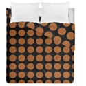 CIRCLES1 BLACK MARBLE & RUSTED METAL (R) Duvet Cover Double Side (Queen Size) View1