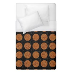 Circles1 Black Marble & Rusted Metal (r) Duvet Cover (single Size)