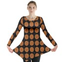 CIRCLES1 BLACK MARBLE & RUSTED METAL (R) Long Sleeve Tunic  View1