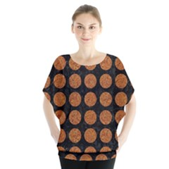 Circles1 Black Marble & Rusted Metal (r) Blouse