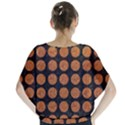 CIRCLES1 BLACK MARBLE & RUSTED METAL (R) Blouse View2