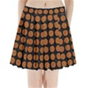 CIRCLES1 BLACK MARBLE & RUSTED METAL (R) Pleated Mini Skirt View1