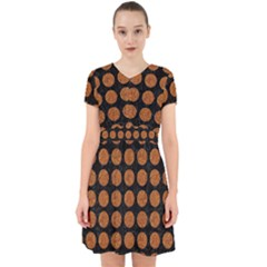 Circles1 Black Marble & Rusted Metal (r) Adorable In Chiffon Dress