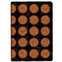 CIRCLES1 BLACK MARBLE & RUSTED METAL (R) Apple iPad Pro 12.9   Flip Case View1