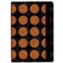 CIRCLES1 BLACK MARBLE & RUSTED METAL (R) Apple iPad Pro 12.9   Flip Case View2