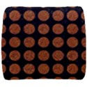 CIRCLES1 BLACK MARBLE & RUSTED METAL (R) Back Support Cushion View1