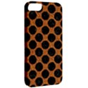CIRCLES2 BLACK MARBLE & RUSTED METAL Apple iPhone 5 Classic Hardshell Case View2