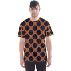 Circles2 Black Marble & Rusted Metal Men s Sports Mesh Tee