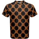 CIRCLES2 BLACK MARBLE & RUSTED METAL Men s Cotton Tee View1