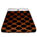 CIRCLES2 BLACK MARBLE & RUSTED METAL Fitted Sheet (California King Size) View1