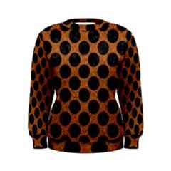 Circles2 Black Marble & Rusted Metal Women s Sweatshirt