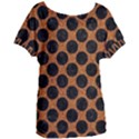 CIRCLES2 BLACK MARBLE & RUSTED METAL Women s Oversized Tee View1