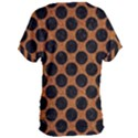 CIRCLES2 BLACK MARBLE & RUSTED METAL Women s Oversized Tee View2
