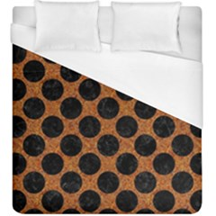 Circles2 Black Marble & Rusted Metal Duvet Cover (king Size)