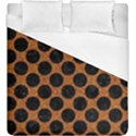 CIRCLES2 BLACK MARBLE & RUSTED METAL Duvet Cover (King Size) View1