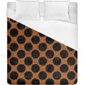CIRCLES2 BLACK MARBLE & RUSTED METAL Duvet Cover (California King Size) View1