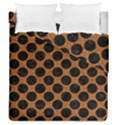 CIRCLES2 BLACK MARBLE & RUSTED METAL Duvet Cover Double Side (Queen Size) View1
