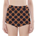 CIRCLES2 BLACK MARBLE & RUSTED METAL High-Waisted Bikini Bottoms View1