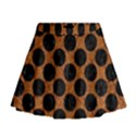 CIRCLES2 BLACK MARBLE & RUSTED METAL Mini Flare Skirt View1