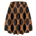 CIRCLES2 BLACK MARBLE & RUSTED METAL High Waist Skirt View2