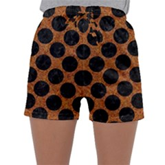 Circles2 Black Marble & Rusted Metal Sleepwear Shorts