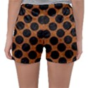 CIRCLES2 BLACK MARBLE & RUSTED METAL Sleepwear Shorts View2