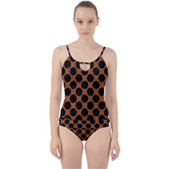 Circles2 Black Marble & Rusted Metal Cut Out Top Tankini Set
