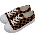 CIRCLES2 BLACK MARBLE & RUSTED METAL Kids  Low Top Canvas Sneakers View2