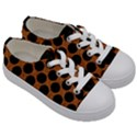 CIRCLES2 BLACK MARBLE & RUSTED METAL Kids  Low Top Canvas Sneakers View3