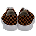 CIRCLES2 BLACK MARBLE & RUSTED METAL Kids  Low Top Canvas Sneakers View4