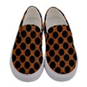 CIRCLES2 BLACK MARBLE & RUSTED METAL Women s Canvas Slip Ons View1