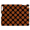CIRCLES2 BLACK MARBLE & RUSTED METAL (R) Apple iPad 3/4 Hardshell Case View1