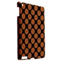 CIRCLES2 BLACK MARBLE & RUSTED METAL (R) Apple iPad 3/4 Hardshell Case View2