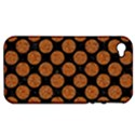 CIRCLES2 BLACK MARBLE & RUSTED METAL (R) Apple iPhone 4/4S Hardshell Case (PC+Silicone) View1