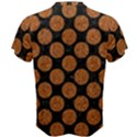 CIRCLES2 BLACK MARBLE & RUSTED METAL (R) Men s Cotton Tee View2