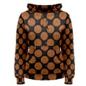 CIRCLES2 BLACK MARBLE & RUSTED METAL (R) Women s Pullover Hoodie View1