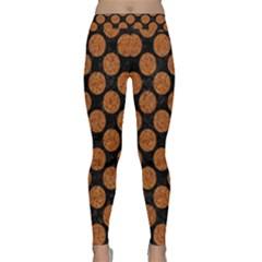 Circles2 Black Marble & Rusted Metal (r) Classic Yoga Leggings