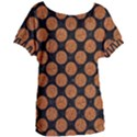 CIRCLES2 BLACK MARBLE & RUSTED METAL (R) Women s Oversized Tee View1
